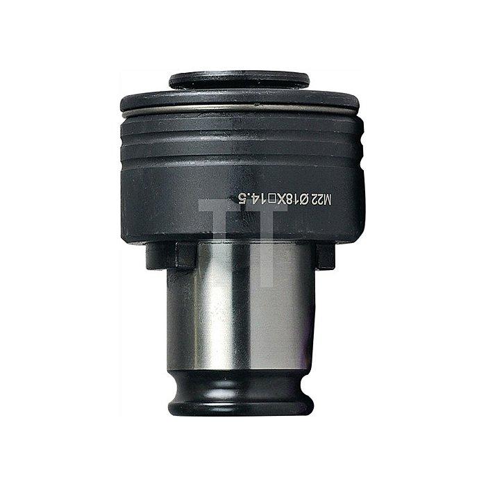 Schnellwechsel-Einsatz SES Gr.1 m.Sicherheitskupplung f.D.11x9mm DIN376 M14