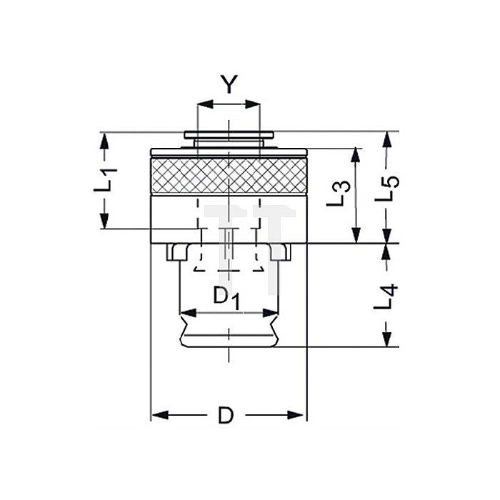 Schnellwechsel-Einsatz SES Gr.2 m.Sicherheitskupplung f.D.18x14,5mm DIN376 M22