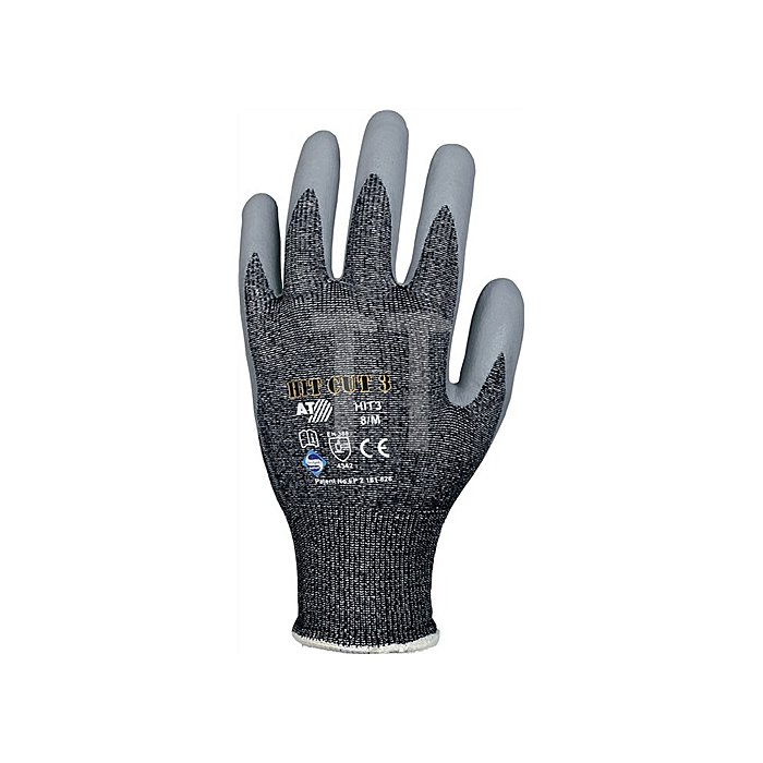 Schnittschutzhandschuh HIT3, EN388 Kat.II, Gr.9 Level 3, Nitril-Mikroschaum