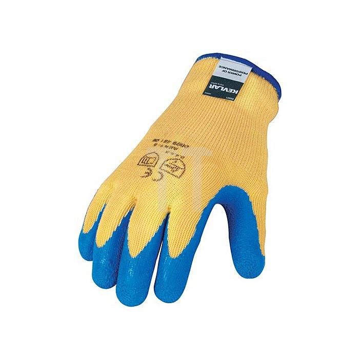 Schnittschutzhandschuhe Kevlar Gr.9 blau Latex-besch. Level4