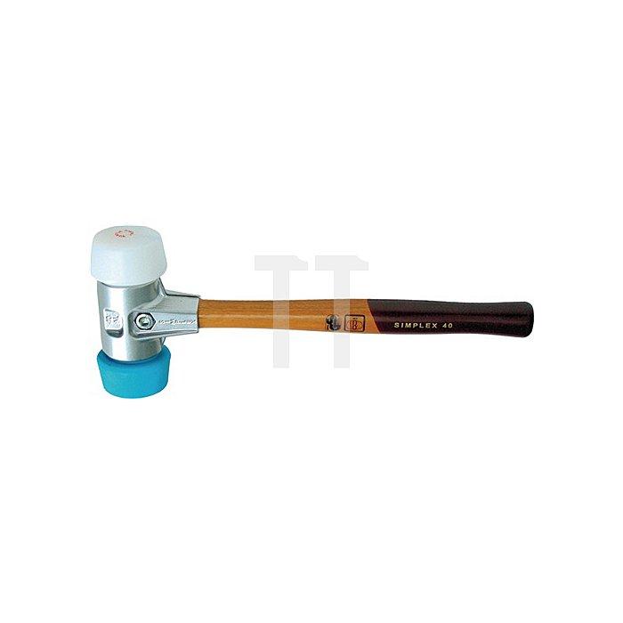 Schonhammer Simplex L.325mm Kopf-D.50mm 400g blau - TPE soft/weiss Superp Halder