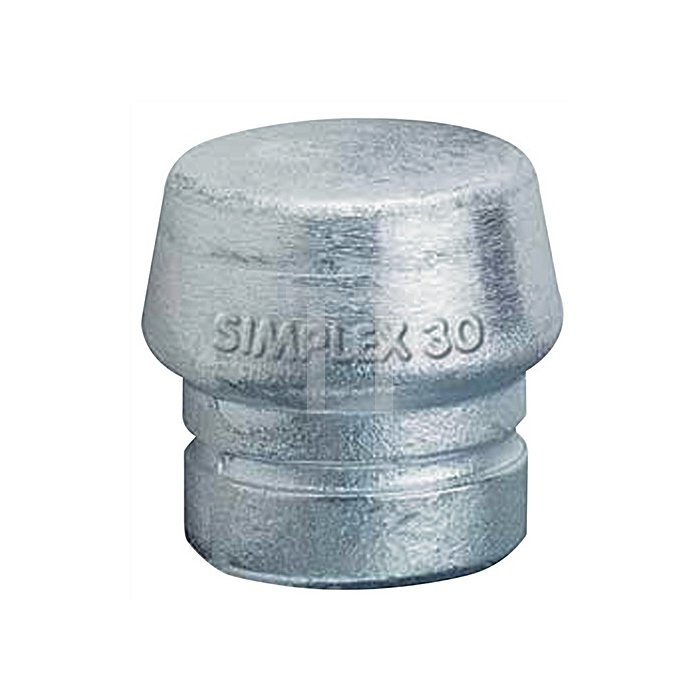 Schonhammerkopf D.30mm f.Simplex lose Weichmetall hart HALDER silber