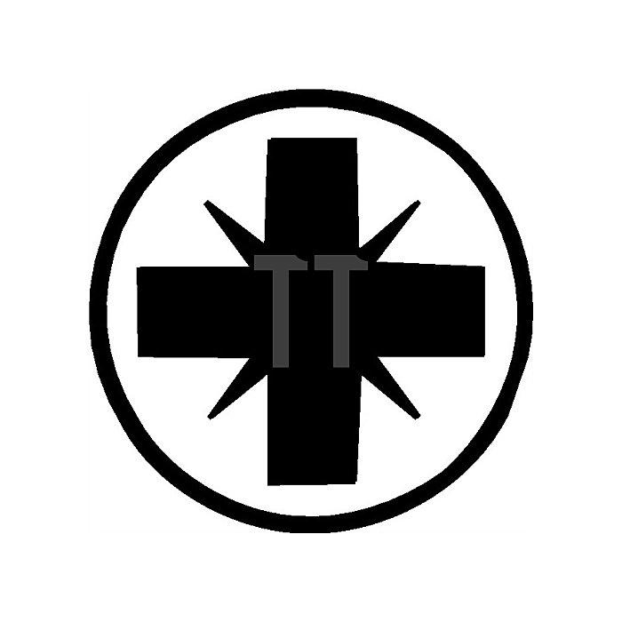 Schraubendreher PZD Gr. 1x5x80mm Ges.-L.186mm 6KT-Klinge/Ansatz m.Mehrkomp.-Grif