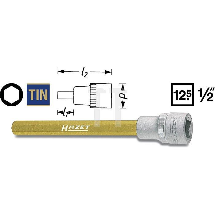 Hazet Schraubendreher-Steckschlüssel-Einsatz s: 13mm Innen-Vierkant 12,5mm (1/2 Zoll) Innen-Sechskant 986LG-13