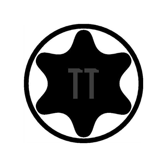 Schraubendreher TX Gr.25 Klingen-L.150mm Klinge Chrom matt m.Seitenabtrieb