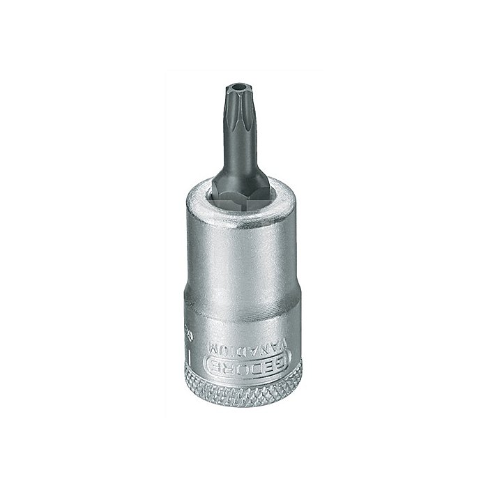 Schraubendrehereinsatz 3/8Zoll TX3,86mm Chrom brün.m.Bohrung Sonderstahl
