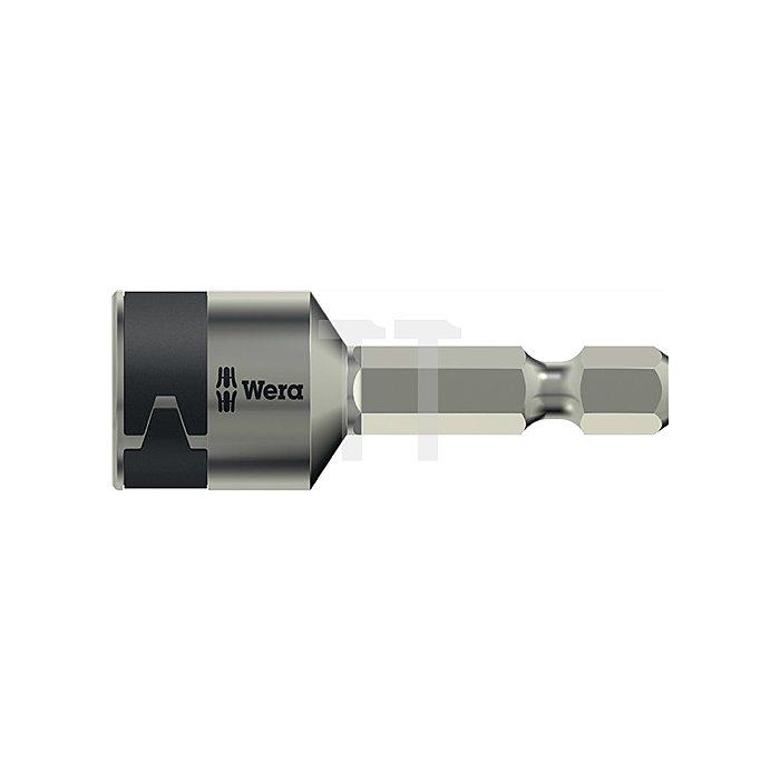 Schraubendrehereinsatz SW 8Zollx50mm 6KT VA unmagnetisch m.Haltefeder