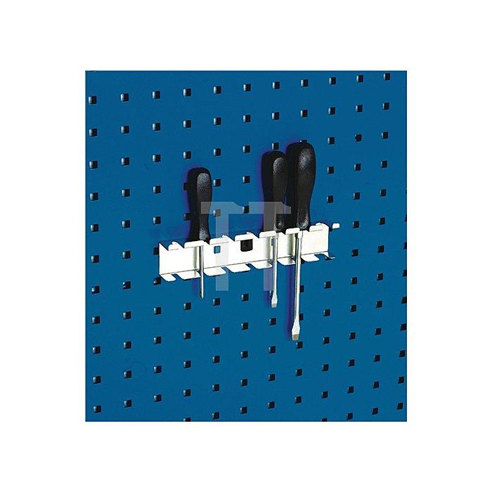 Schraubendreherhalter m.7Aufnahmen 4xD.7/3xD.13mm f.Lochplatten Bott