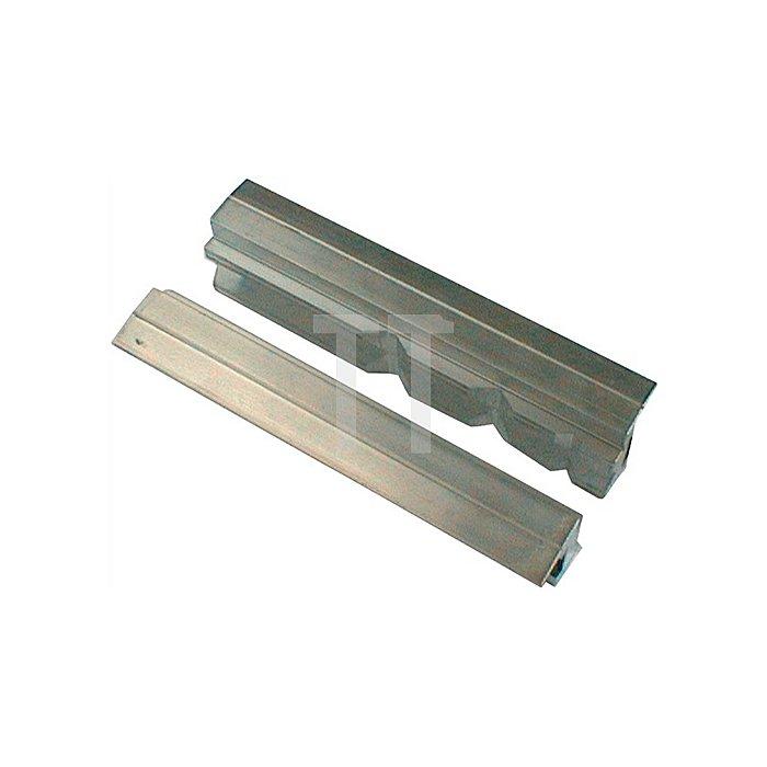 Schraubstockschutzbacken m. Prismen, 180mm Backenbreite, Spannen von Werkstücke