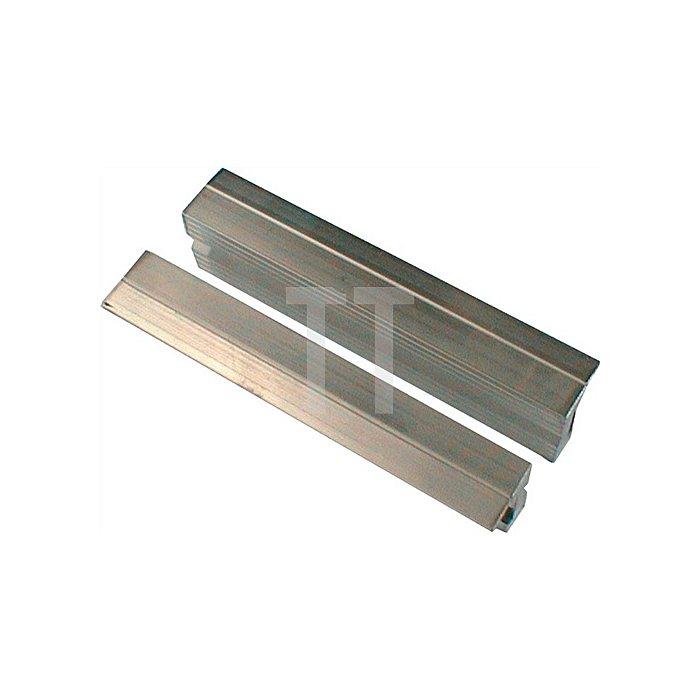 Schraubstockschutzbacken m. Rillenprofil, 160mm Backenbreite, m. Magnet-Halteru