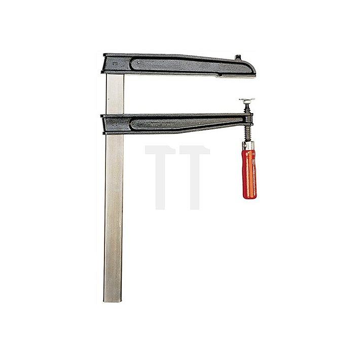 Schraubzwinge Spannw.max.800mm Ausladung 400mm mit Holzheft