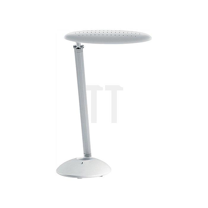 Schreibtischleuchte Alu. weiss m.Standfuß und 3-Stufen Dimmer m.Leuchtmittel LED