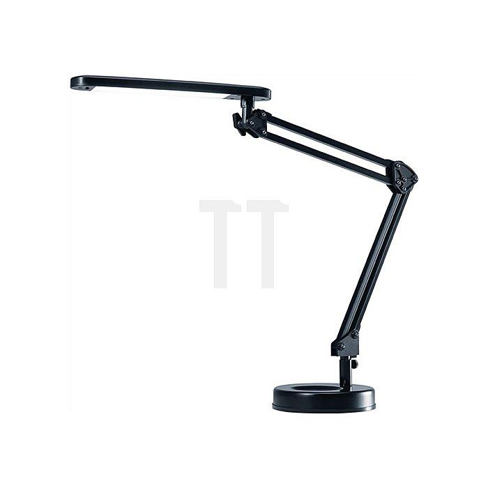 Schreibtischleuchte Alu.schwarz m.Standfuß m.Leuchtmittel,Ausladung max.670mmLED