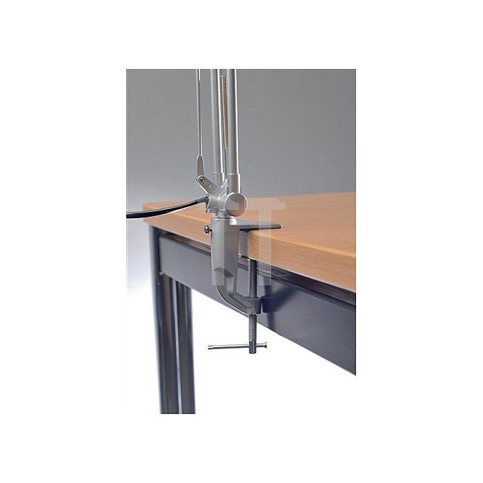 Schreibtischleuchte Ku.silber m.Standfuß u. Klemme max.630mm