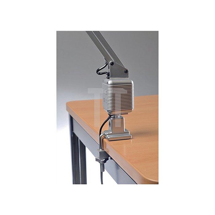 Schreibtischleuchte Ku.silber m.Standfuß u. Klemme max.820mm