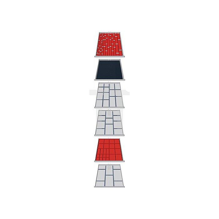 Schubladen-Unterteilung 107-teilig f. 6 Schubladen f. Schrank H1019xB705xT736mm
