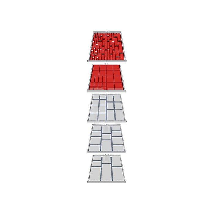 Schubladen-Unterteilung 110-teilig für 5 Schubladen f. Schrank H1019xB705xT736mm