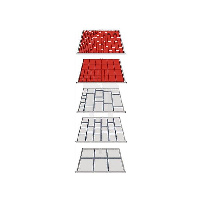 Schubladen-Unterteilung 146-teilig f. 5 Schubladen f. Schrank H1019xB1005xT736m