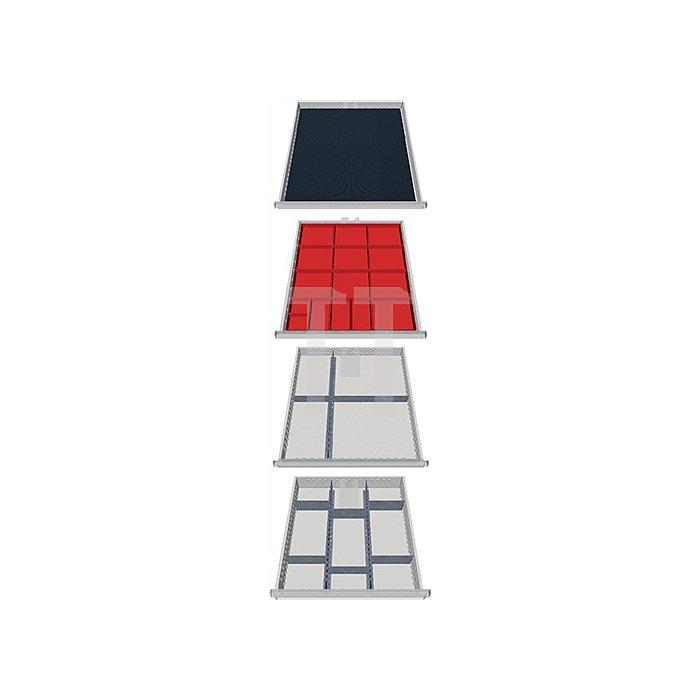 Schubladen-Unterteilung 27-teilig f. 4 Schubladen f. Schrank H1005xB736xT555mm