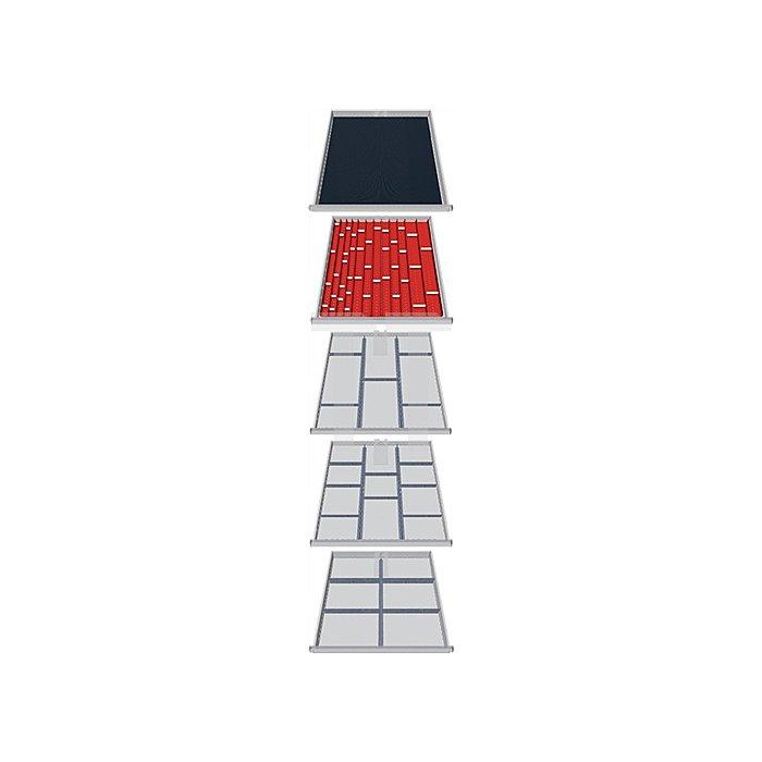 Schubladen-Unterteilung 79-teilig f. 5 Schubladen f. Schrank H1019xB705xT736mm