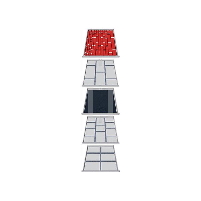 Schubladen-Unterteilung 79-tlg f.5 Schubladen f. Schubladenschrank H1019xB705xT