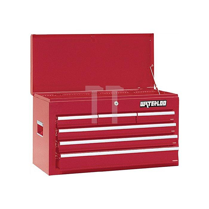 Schubladenkoffer 6Schubl. 1 Fach a.Stahlblech RAL3002 L. 663 T. 307 H. 395mm