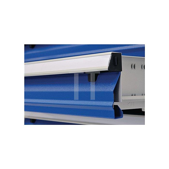Schubladenschrank H1005xB736xT555mm fahrbar 2x100 2x150 1x200 grau/blau