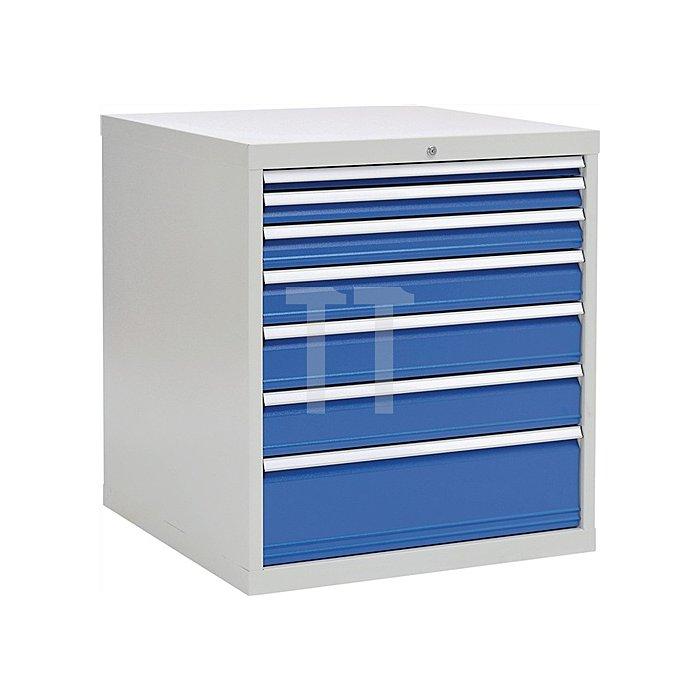 Schubladenschrank H1019xB1005xT736 grau/blau 1x50 1x75 1x100 1x125 2x150 1x250