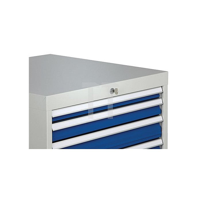Schubladenschrank H1019xB705xT736 grau/anthr. 2x50 1x75 2x100 1x125 1x150 1x250