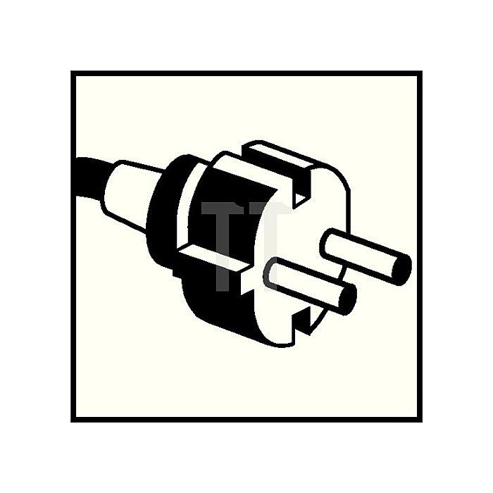 Schuko-Stecker IP44 orange 3x2,5mm2 10-16A 250V Gummi m.PA-Einsatz 2polig