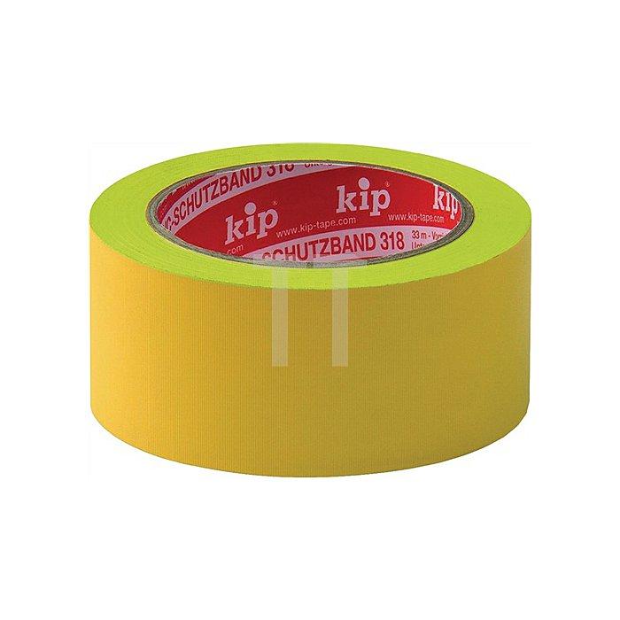 Schutzband Länge 33m Breite 50mm gelb Weich-PVC-Folie 318-15