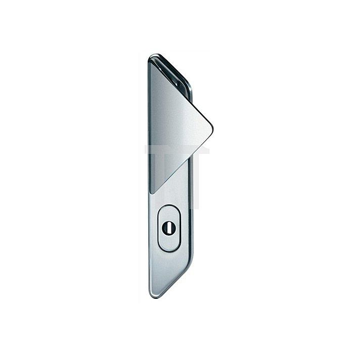 Schutzbeschlag Schutz-Kl.3 DIN li.Entfernung 72mm VA fein matt f.Zimmertüren