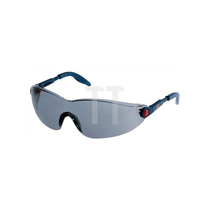 Schutzbrille 2741 Bügel blau/rot AS AF UV EN166 PC grau einstellbare Bügel 3M