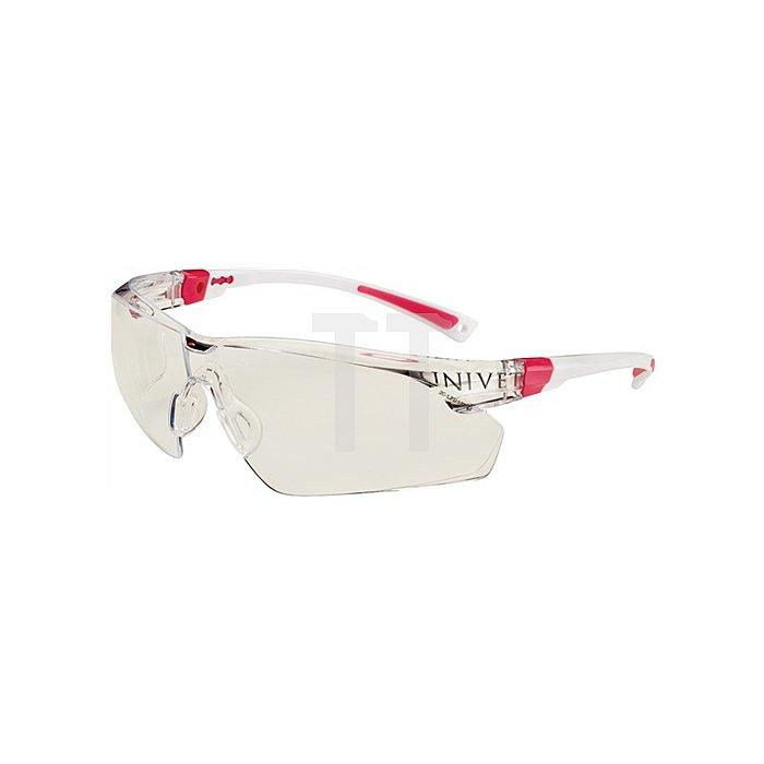 Schutzbrille 506UP Bügel weiss/rosa Anti-Kratz u. Anti-Beschlag Plus EN166 Panora