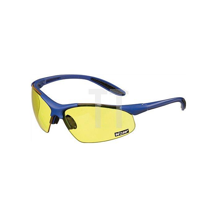 Schutzbrille blau/gelb PC-Gläser UVA/UVB ultra light EN166