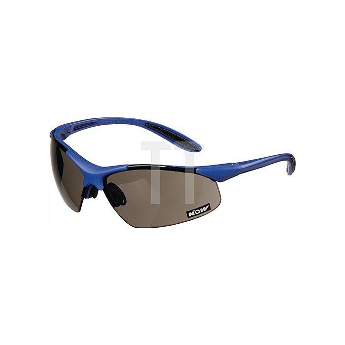 Schutzbrille blau/smoke PC-Gläser UVA/UVB ultra light EN166