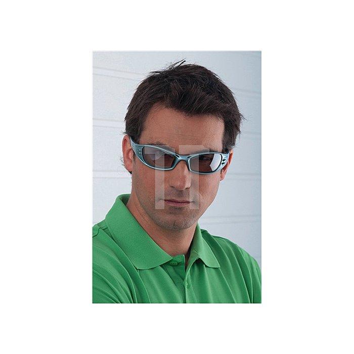 Schutzbrille Fuel Bügel stahlblau/PC silber verspiegelt EN 166, belüftet 3M
