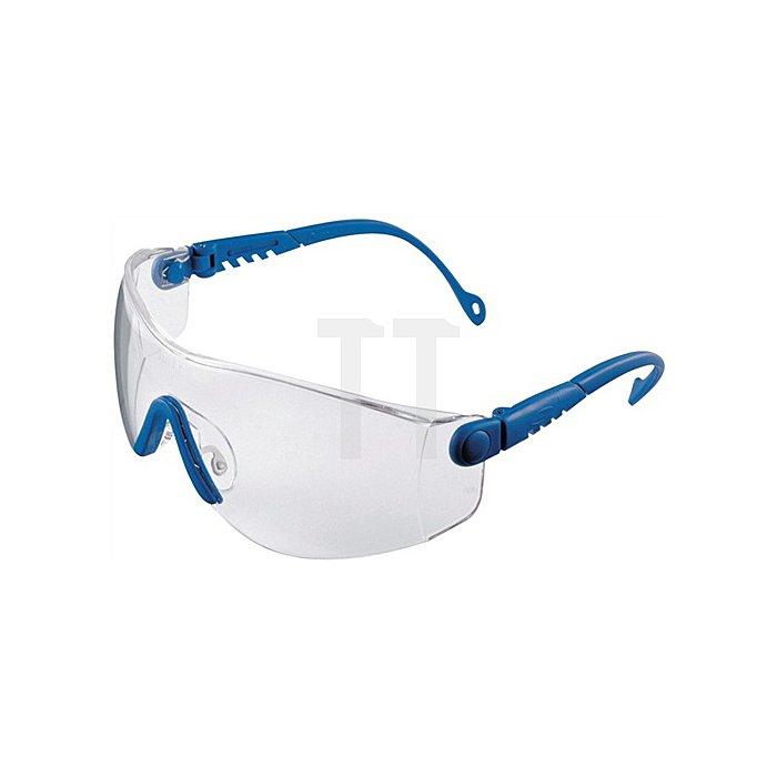 Schutzbrille OpTema Bügel blau Fogban-Scheibe klar beschlagfrei EN166