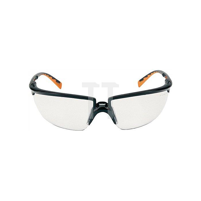 Schutzbrille Solus Bügel schwarz/orange PC klar DX-Beschichtung verzerrfrei 3M