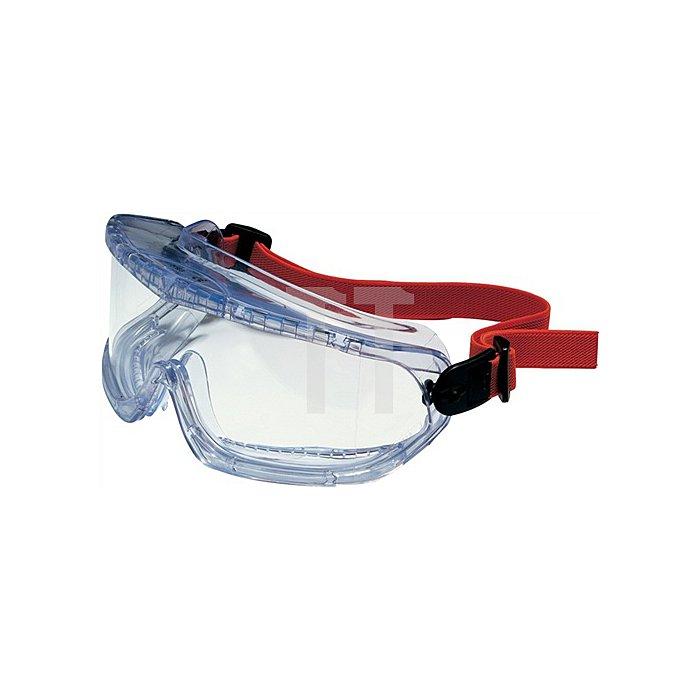 Schutzbrille Vollsicht V-Maxx Panoramablickfeld Fogban-Scheibe klar EN166