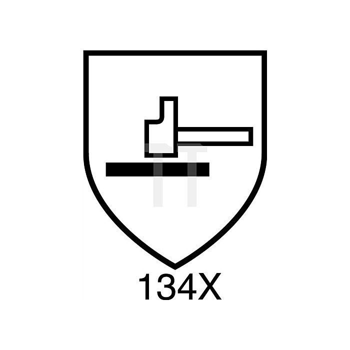 Schutzhandschuhe Kevlar Gr.10 gelb 2seitig m.Noppen EN388 Kat.II