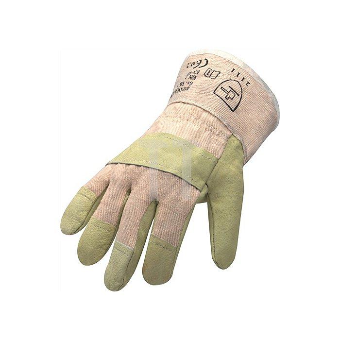 Schutzhandschuhe Top Gr.10 1/2 gelb Schweinevollleder gr.Stulpe