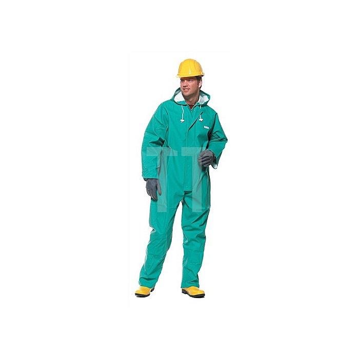 Schutzoverall Gr.XL grün Decontex P100 PVC m.Kapuze KIND Typ 5/6
