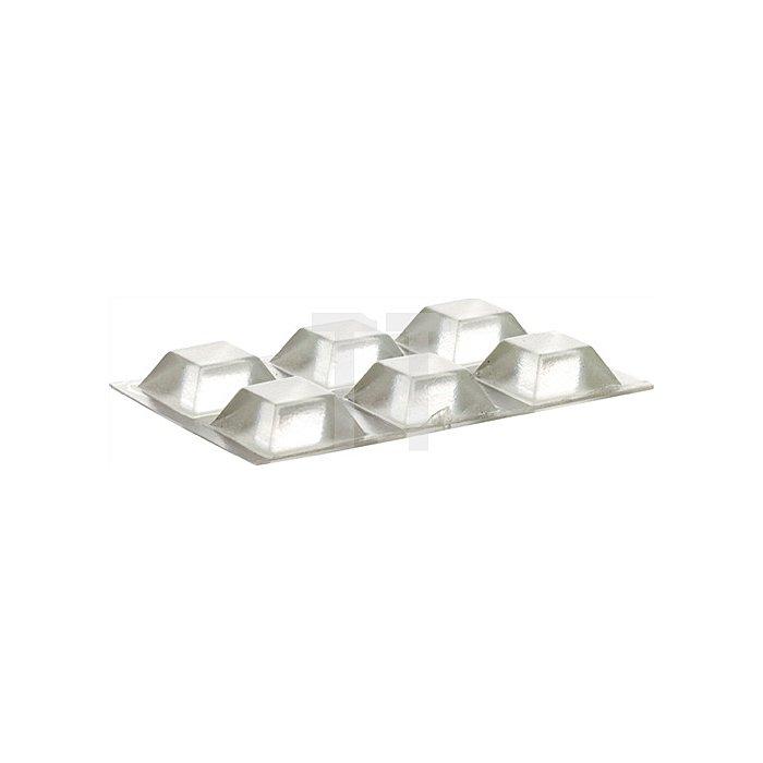Schutzpuffer CLEAR Quadrat 20,5 x 20,5mm Höhe 7,5mm Kunststoff klar