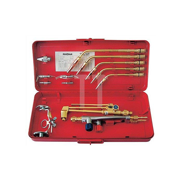 Schweiss-/Schneidgarnitur Kombi 17 AC Injektor M21,5x20Gg 10-100mm, Acetylen