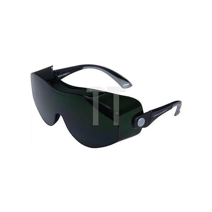Schweisserbrille Carina Klein Rahmen schwarz Gläser IR 4-5.0 grün getönt