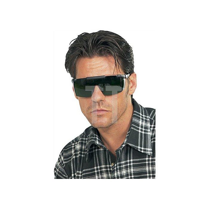 Schweisserbrille Nassau Rave Rahmen schwarz Gläser IR 5.0 grün getönt belüftet 3M