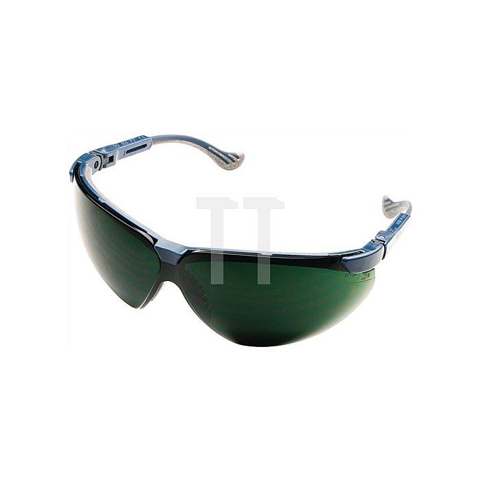 Schweisserbrille XC Rahmen blau Fogban-Scheibe IR5 EN166 EN169