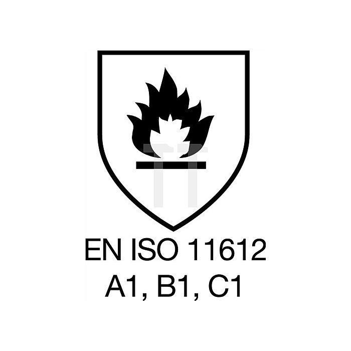 Schweisserschutzjacke Gr. 58 königsblau EN470-1/531