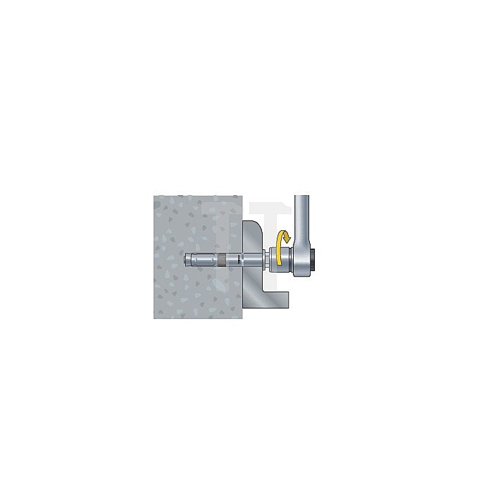 Schwerlastanker SWA plus -B 15/25 Bolzen + Sechskantmutter blau verz. apolo MEA